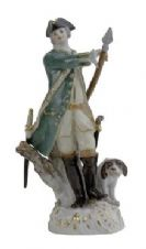 Meissen Porcelain Figurine - Hunter with Dog